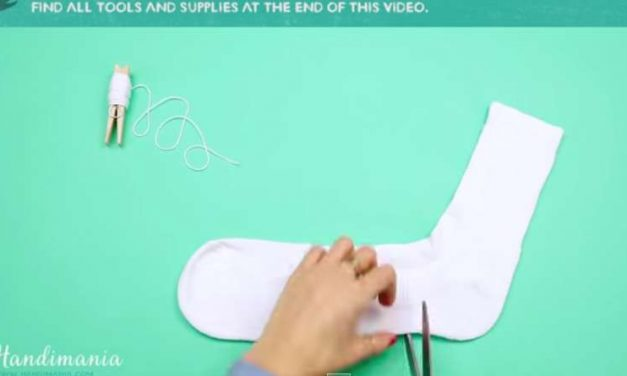 She Cut Into A Normal Sock And Transformed It Into Something Adorable