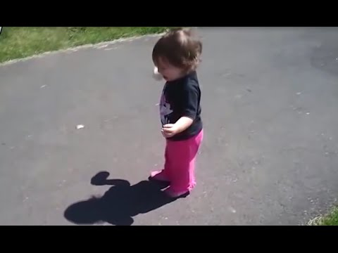 Cute Babies Discovering Their Own Shadow For The First Time and Scared Of It Compilation 2015