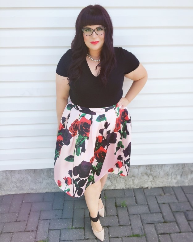 She supports body-positive clothing brands.