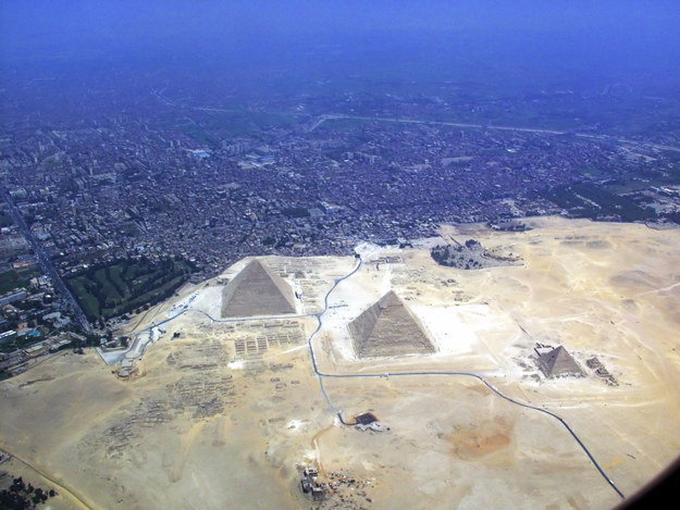 But they're actually DIRECTLY next to the city of Giza.